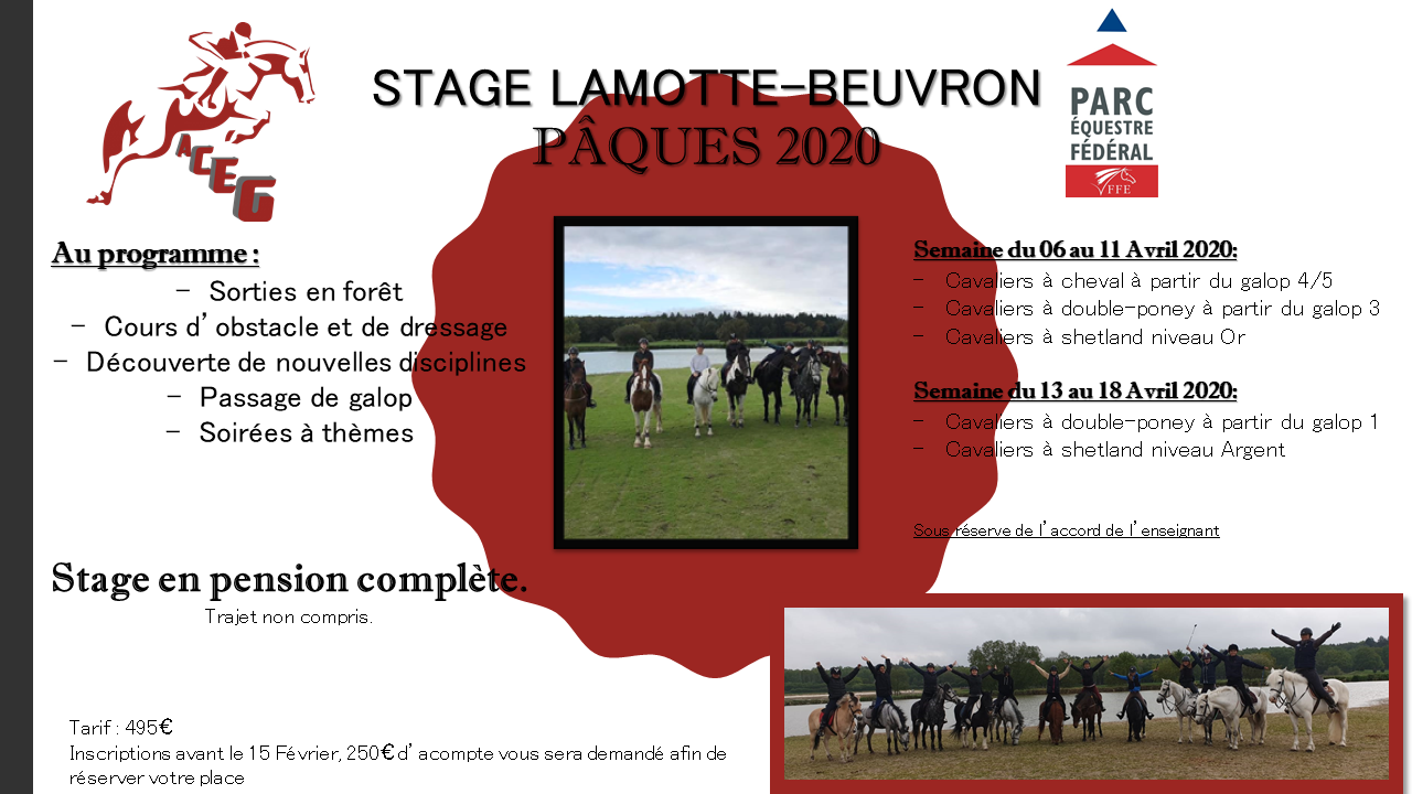 Stage Lamotte Beuvron ACEG